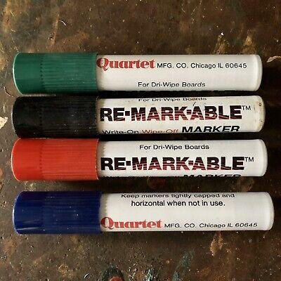Re-markable Quartet Dry Erase Markers Original Ketone Lot Vintage Smelly Potent
