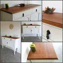 Shabby chic cabinet country farmhouse sideboard drawers Griffin Pine Rivers Area Preview