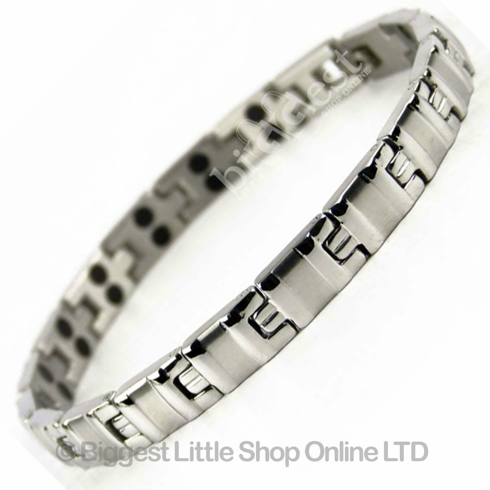 new ladies magnetic stainless steel bracelet 34 magnets neodymium therapy boxed ebay. Black Bedroom Furniture Sets. Home Design Ideas