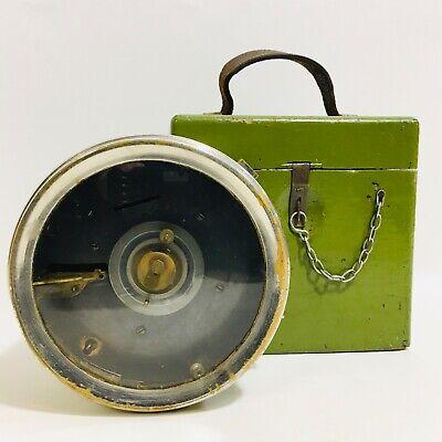 Vintage TOULET 102592 Pigeon Racing Timing Clock in Original Case
