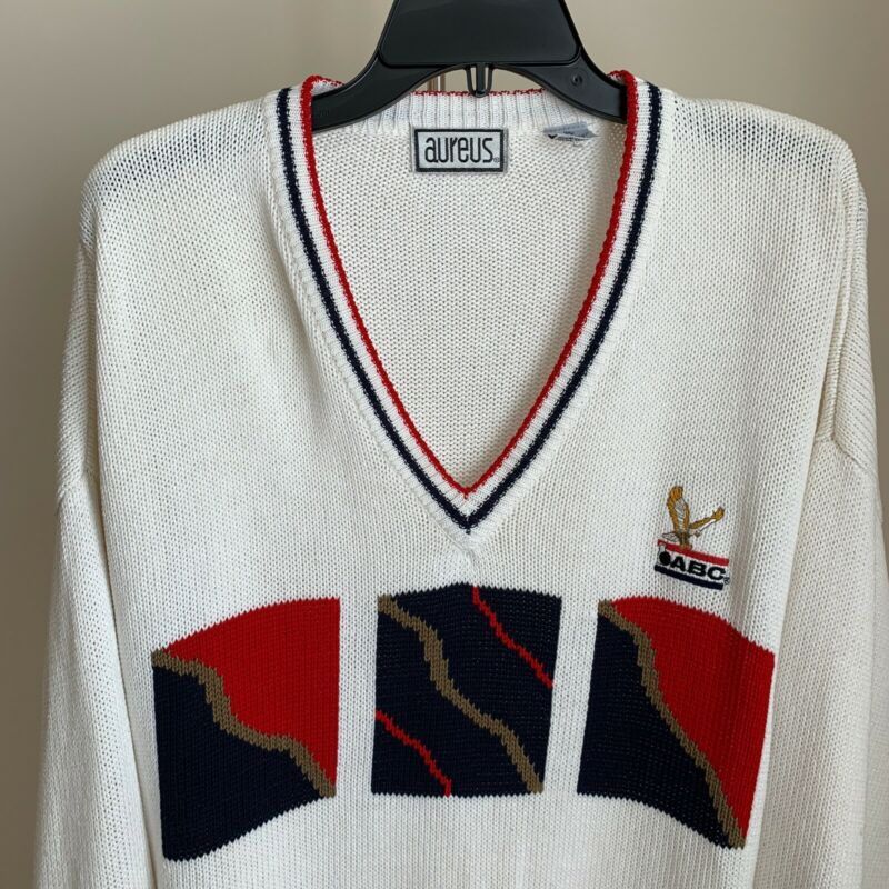Vintage American Bowling Congress ABC Mens Embroidered Pullover Sweater XXL EUC