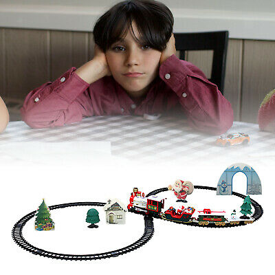 Battery Operated Large Christmas Train Track Set With Sound Light Toys Gifts