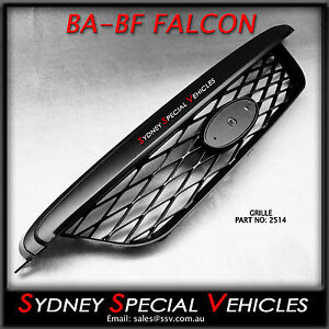 BLACK PLASTIC MESH GRILLE FOR BA BF XR6 XR8 FRONT BARS UPPER TOP OPENING GRILL