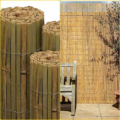 Garden Bamboo Slat Fencing Privacy Screen Roll Outdoor Panel Screening 1.8M X 4M