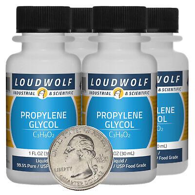 Propylene Glycol 4 Fl Oz 4 Bottles 99.5 Pure Usp Food Grade Liquid