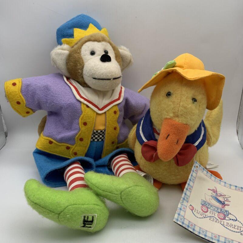 Mary Engelbreit Cuties JoJo The Monkey Plush W Dalano Duck Stuffed Doll Toy
