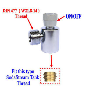 CO2 Fill Adapters On/Off for SodaStream tank with W21.8 Thread