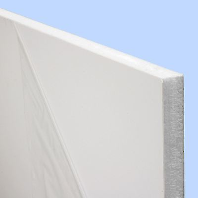 White UPVC Flat Door Panel 20mm 24mm 28mm Thick Plastic Infill Foam Filled