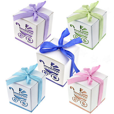 20x Baby Birthday Shower Candy Carriages Boxes Party Table Decoration - Party Candy Table
