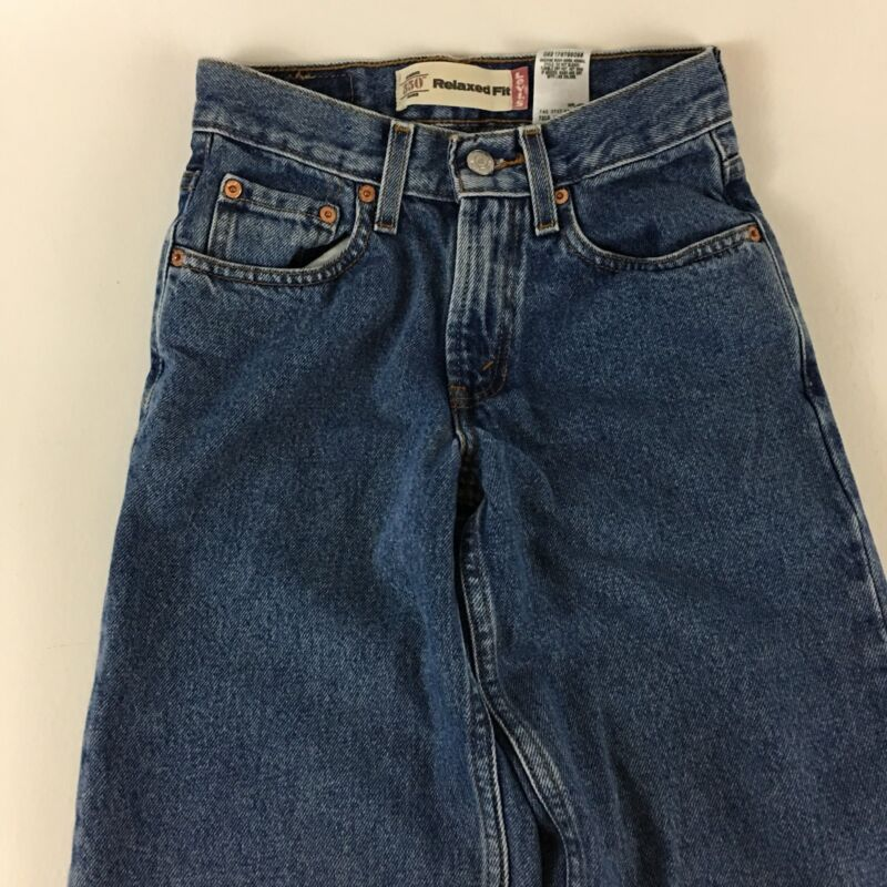 Boys Levi's 550 Relaxed Fit Jeans Size 12 Slim