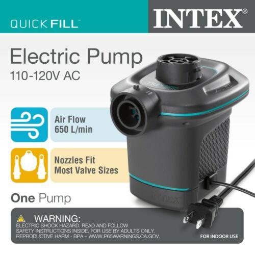(NEW) Intex Quick-Fill AC Electric Air Pump 120V 114W, Black 4.9 x 5.6 x 5.6 in