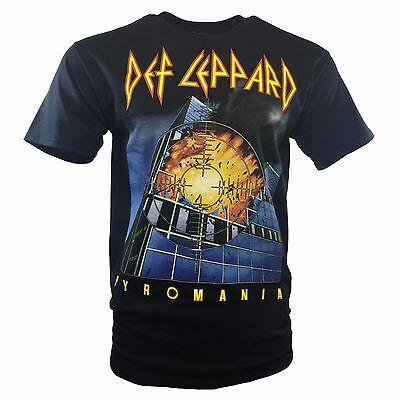 Def Leppard Mens T Shirt Official  Heavy Metal Rock Music Concert   Pyromania