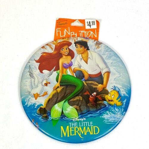 Vintage Little Mermaid Disney Oversized 6 in Fun Button by Trends International