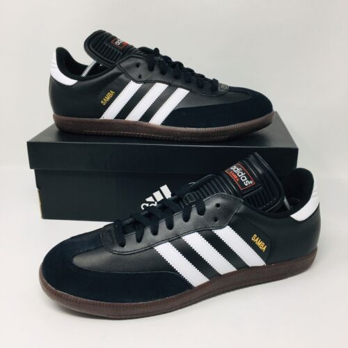 *NEW* Adidas Samba Classic  Black Gum Soccer Shoes Football