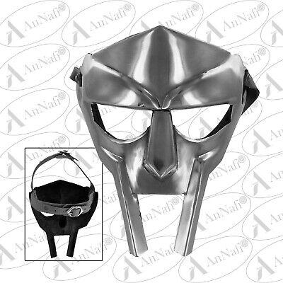 MF Doom Gladiator Mask Madvillain 18g Mild Steel Face Armor Replica Medieval
