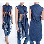 Denim Plus Size Shirt Dresses