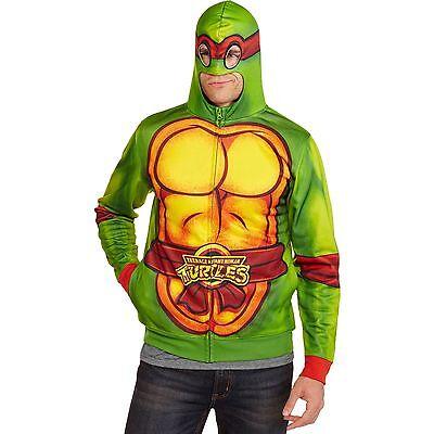 TMNT Teenage Mutant Ninja Turtle Costume Zip Up  Hoodie w/Mask NWT NEW