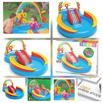 Intex Rainbow Ring Play Center, 297x193x135, paddling swimming pool 157453NP new