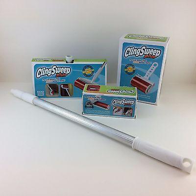Mini Lint Roller - Set of NIB Cling Sweep Plus Lint Rollers Handheld, Folding Mini, Rod MSRP $70