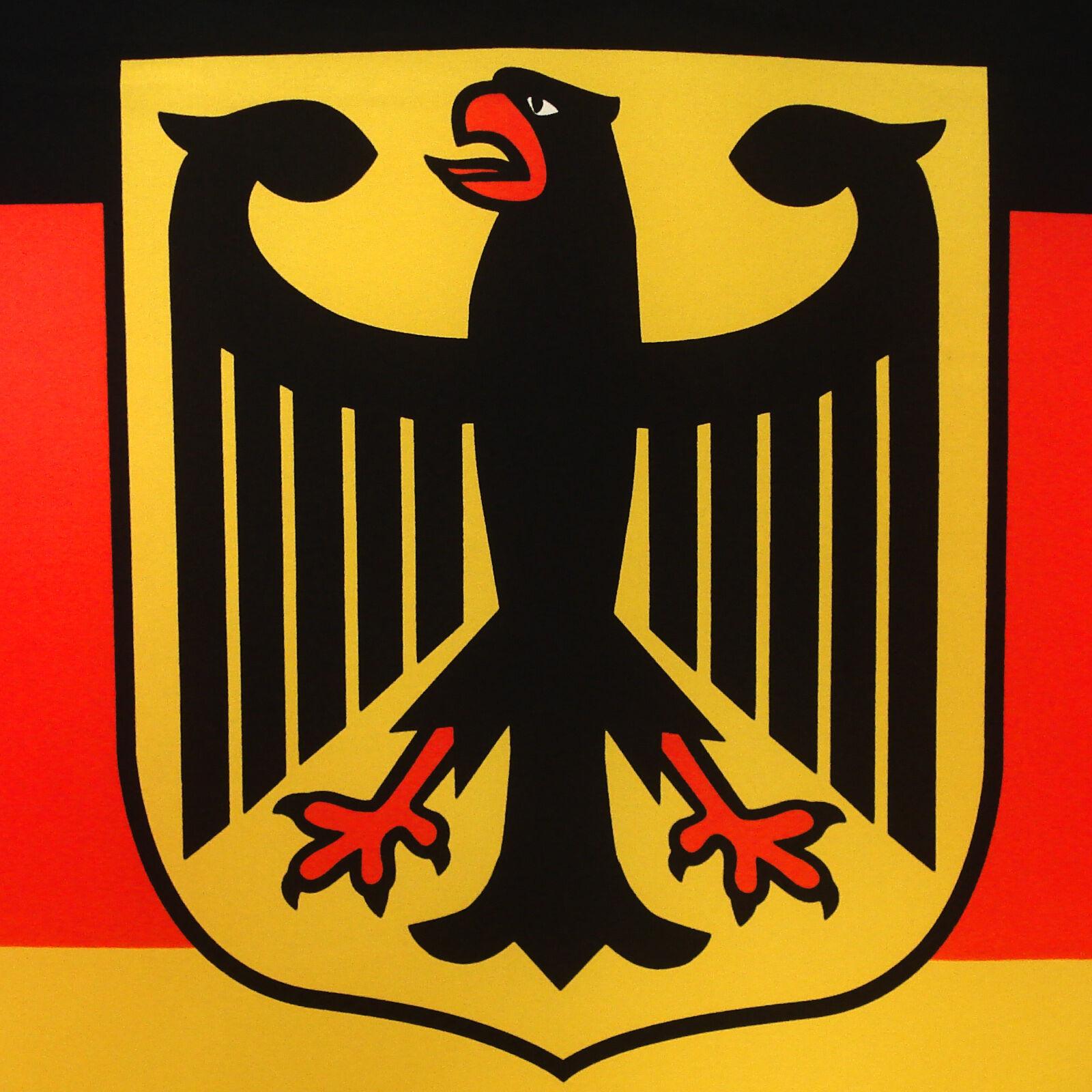 fahne deutschland mit adler quer 90 x 150 deutsche hiss. Black Bedroom Furniture Sets. Home Design Ideas