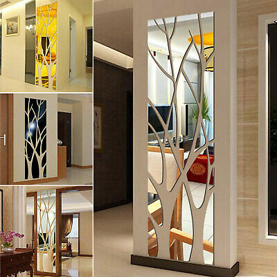 Home Decoration - 3D Mirror Tree Art Removable Wall Sticker Acrylic Mural Decal Home Room Decor