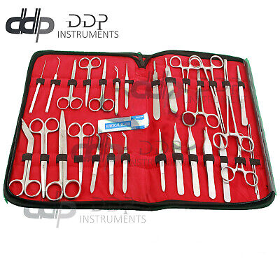 71 Us Military Field Minor Surgery Surgical Instruments Forceps Scissors Kit