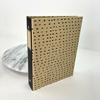 Target Mini Binder Daily Planner Organizer 3-ring Binder Kraft Black Polka Dot