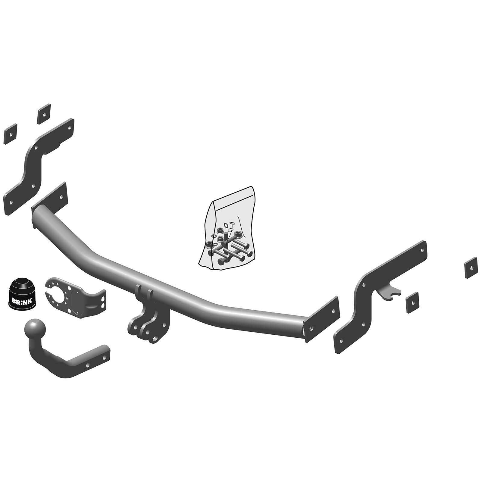 Tow Bar 13152//F/_B1 Fixed Swan Neck Towbar For Citroën Nemo 7 Pin Electrics 2008