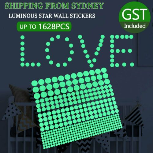 Home Decoration - UP 1628x Dot Luminous Star Wall Stickers Home Room Decor Glow In The Dark Decal