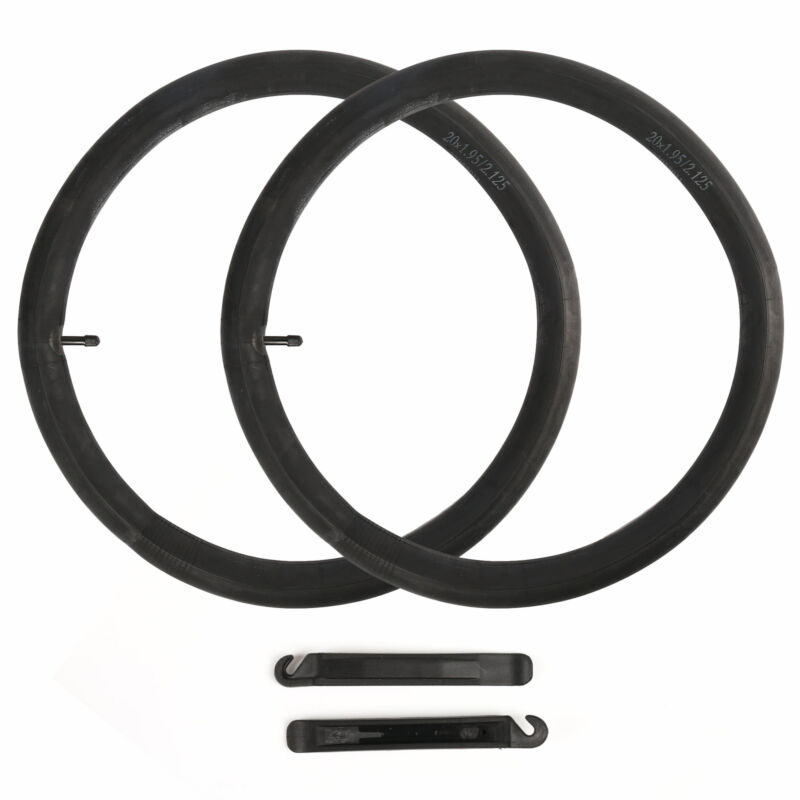"""2Pcs  20"""" inch Inner Bike Tube 20x1.95-2.125 Bicycle Rubber Tire Interior BMX"""