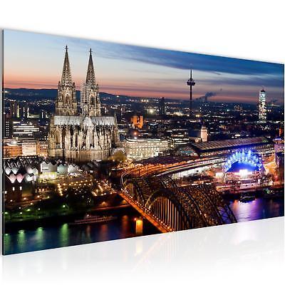 Bild Bilder Wandbild XXL - 100x40 cm Köln - Kunstdruck Leinwand Vlies - Wanddeko