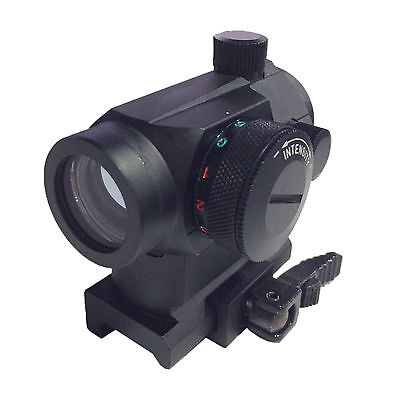 Quick Release Tactical Red Green Holographic Reflex Dot Sight Scope Rail Mount