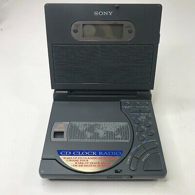 Vintage Sony AM/FM/CD World Alarm Clock Radio ICF-CD1000 Mega-Bass Tested