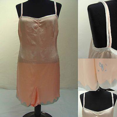 Antique Vintage Womens Size Medium Nightgown Lingerie 1920's *ORIGINAL* FLAPPER