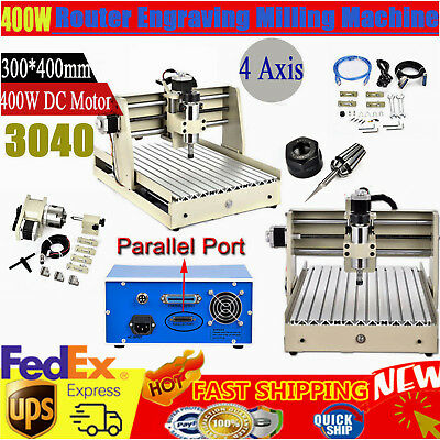 400w 3040 Router Engraving Machine 4 Axis Desktop Wood Carving Milling Engraver