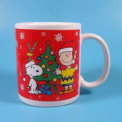 Galerie Peanuts Christmas Holiday Mug 1 Snoopy Charlie Brown Woodstock Ho Ho Ho