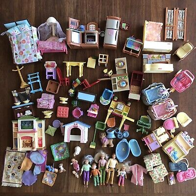 Fisher Price Loving Family Dollhouse Twins Accessories Lot Huge 80+ Piece