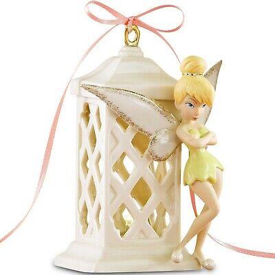 Lenox Disney Tinkerbell Pixie Bright Night Light Figurine Lighted Lantern NEW