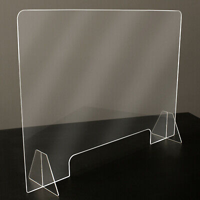 Sneeze Guard - Clear Plastic - Table Desk Checkout Counter Shield 32w X 23h