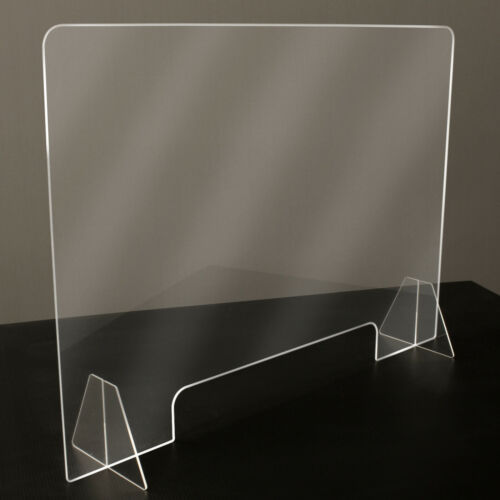 """Sneeze Guard - Clear Plastic - Table Desk Checkout Counter Shield 32""""w x 23""""h"""