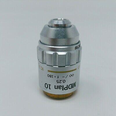Olympus Microscope Objective Mdplan 10x 0.25