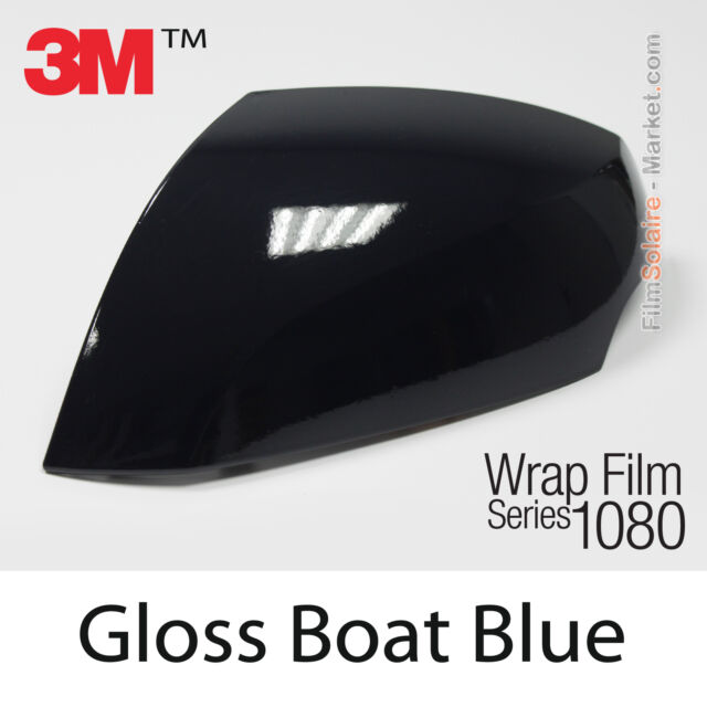 10x20cm FILM Gloss Boat Blue 3M 1080 G127 Vinyl COVERING Car Wrap Wrapping