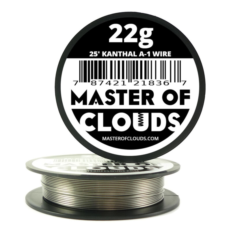 25 ft - 22 Gauge AWG A1 Kanthal Round Wire 0.64mm Resistance A-1 22g GA 25