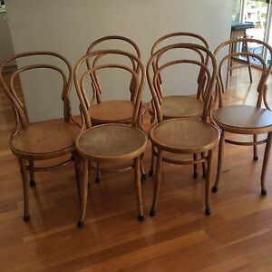 6 original Bentwood chairs light timber Beaconsfield Fremantle Area Preview