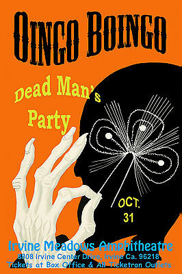 1980's Rock: Oingo Boingo at The Irvine Meadows Concert Poster 1986