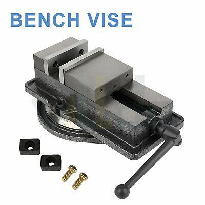 Locking Milling Bench Vise 5 Inch Heavy Duty Clamp Swivel Locking Base