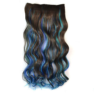 Hi-Lite Blue Synthetic Hair Extension 62