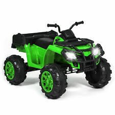 Kids 12V Ride On XL ATV Quad 4 Wheel Suspension MP3 Player Storage Basket Green