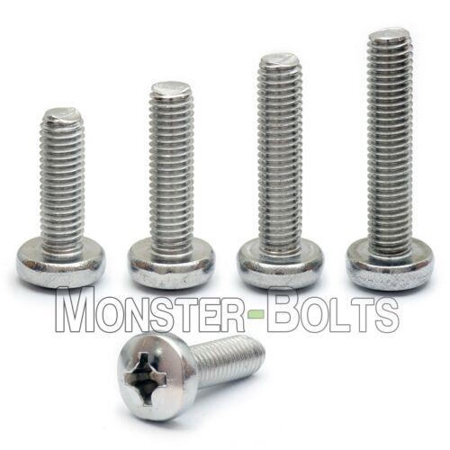 M5 Stainless Steel Phillips Pan Head Machine Screws, Cross Recessed DIN 7985A