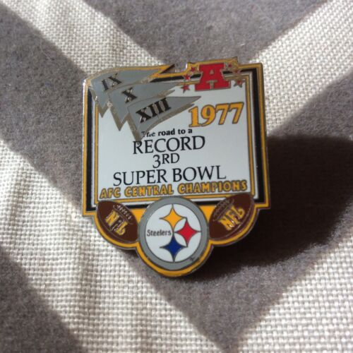 Pittsburgh Steelers:  Commemorative Pin: 1977: Afc Central Champions : Preowned